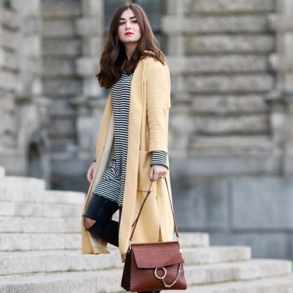 yellow zara coat