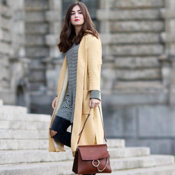 yellow zara coat