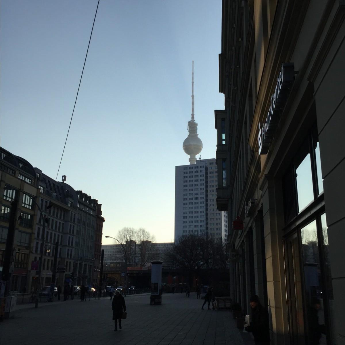 Berlin, Hackrescher Markt, Fernsehturm, Alexanderplatz