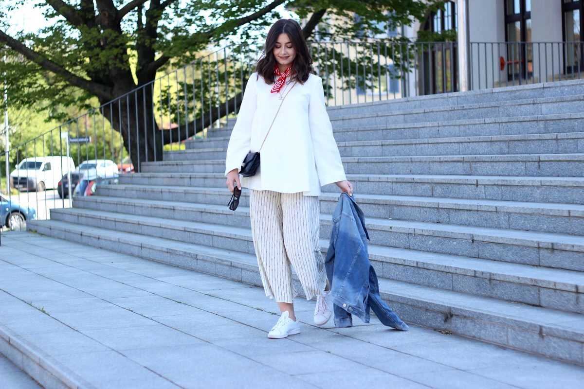 All-White, Bandana, Adidas Stan Smith, Chanel, COS, Zara, asos, Proenza Shouler