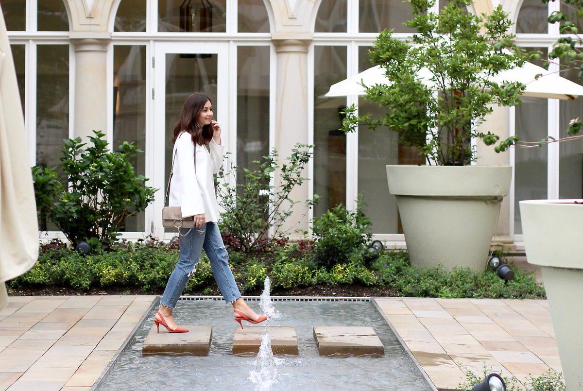 Chlor Faye, Levi's 501 CT, Jeans, COS, Zara, Heels, Frankfurt, Villa Kennedy, Chanel, Pandora