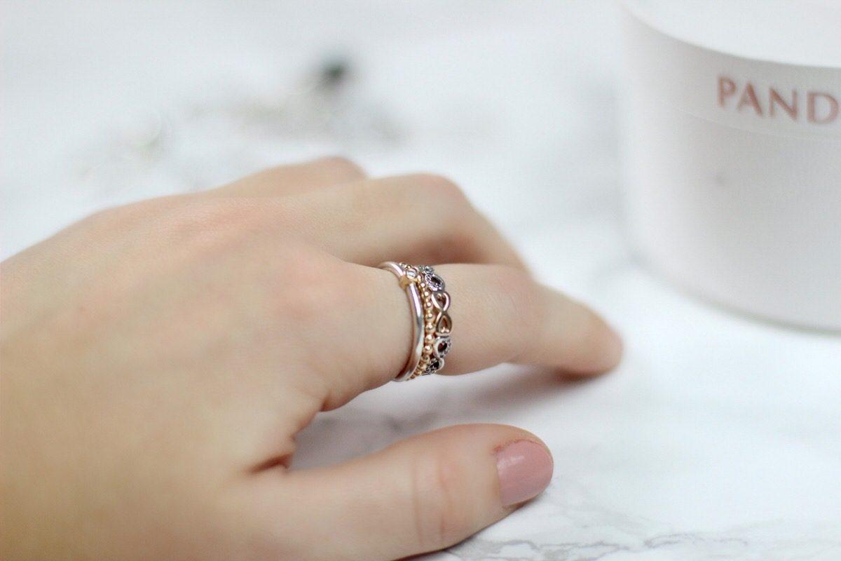Pandora, Ringe, Kombinationen, gold, silber