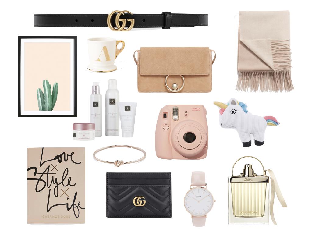 Christmas Gift Guide für Sie, Geschenktipps Weihnachten, für die Dame, Uhr, Gucci, Chloe Look a Like, Parfum, Rituals, Schal, Buch