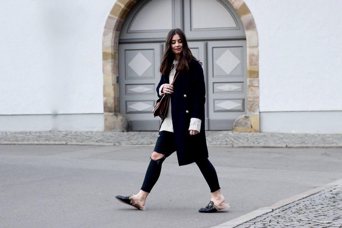 Gucci Slipper, Chloé Faye, Zara, Destroyed Jeans, Pandora