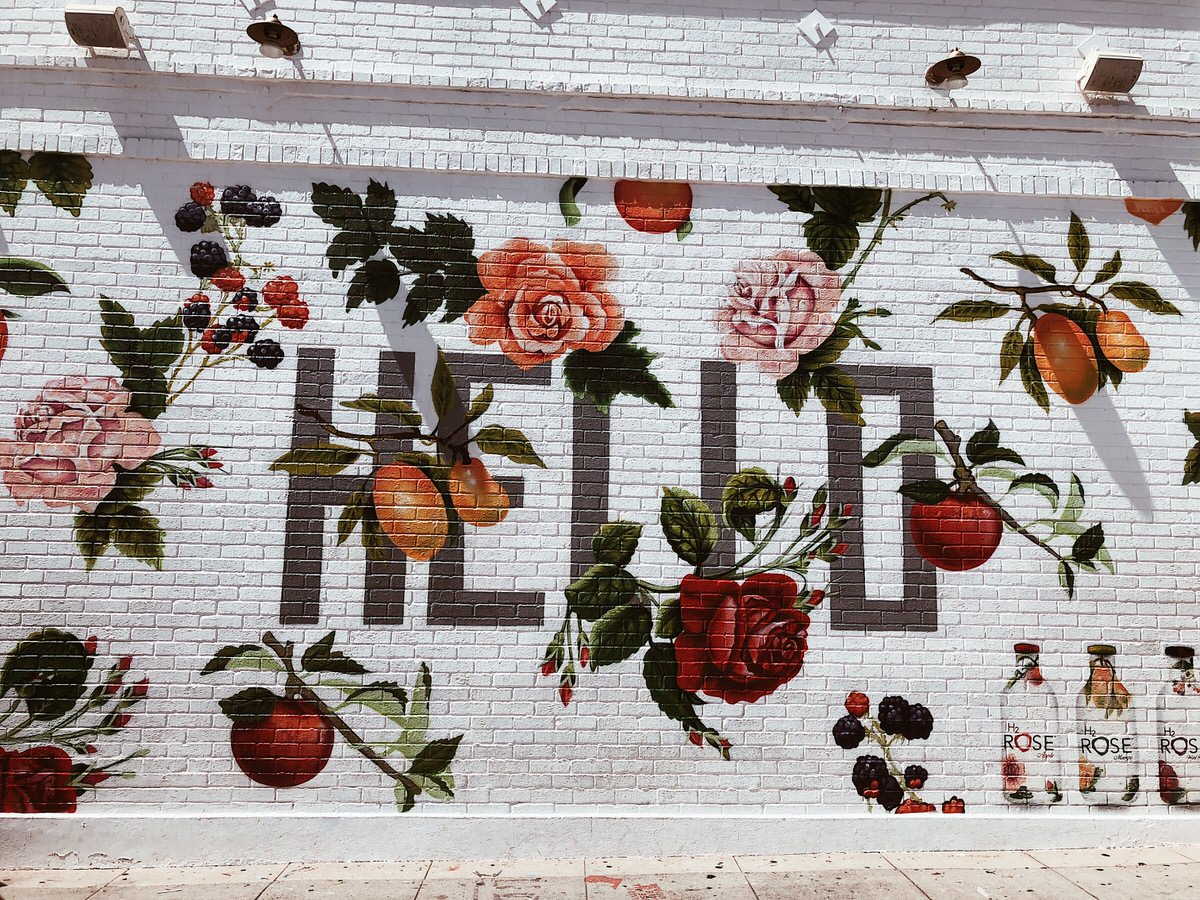 Road Trip, Los Angeles, California, Kalifornien, LA, Hello Wall, Melrose Ave, Painted Walls