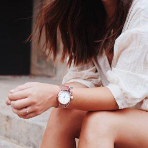BRAISAZ, Uhr, Armbanduhr, klassisches Design, Rosegold, Mesh, weißes Ziffernblatt, Uhr Amelié