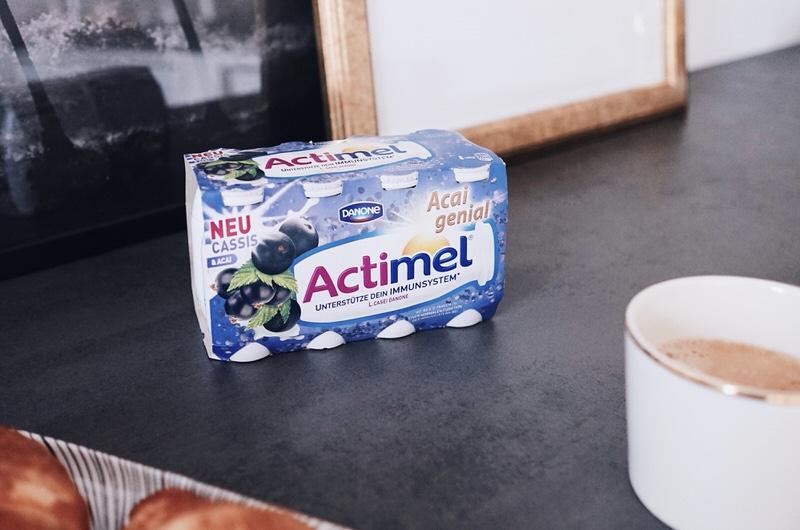 Actimel, Cassis-Acai, Abwehrkräfte, Frühstück, Frühstücksdrink, Routine