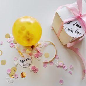 Brautjungfer Geschenk, DIY, Bridesmaid, Will you be my Bridesmaid, Willst du meine Brautjungfer sein, Ballon, Pop Me, Überraschung, Basteln