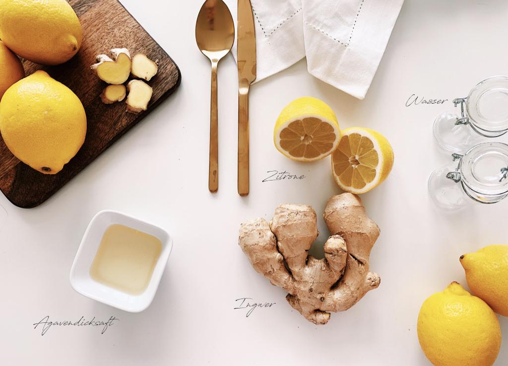 Ingwer-Shot, Trendgetränk, gesund, Erkältung, Rezept für Erkältung, Ingwer, Getränk
