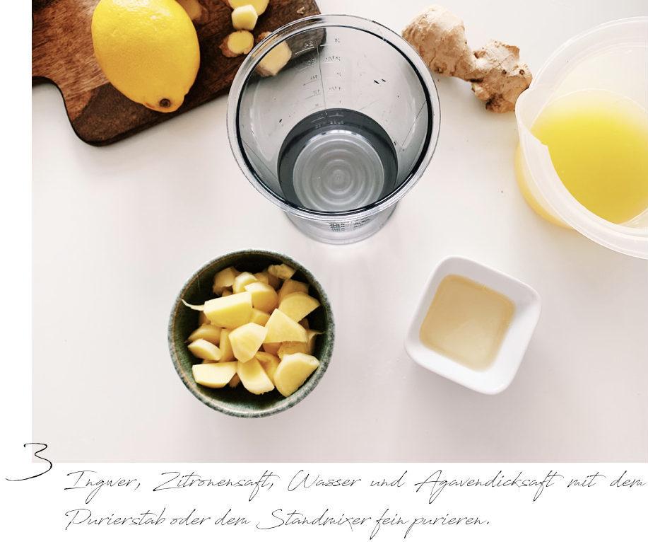 Ingwer-Shot, Trendgetränk, gesund, Erkältung, Rezept für Erkältung, Ingwer, Getränk, Rezept