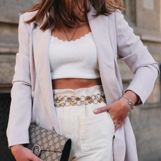 Outfit, Spring Summer 2019, Streetstyle, Oversize Blazer, Blazer, Croptop, Gucci